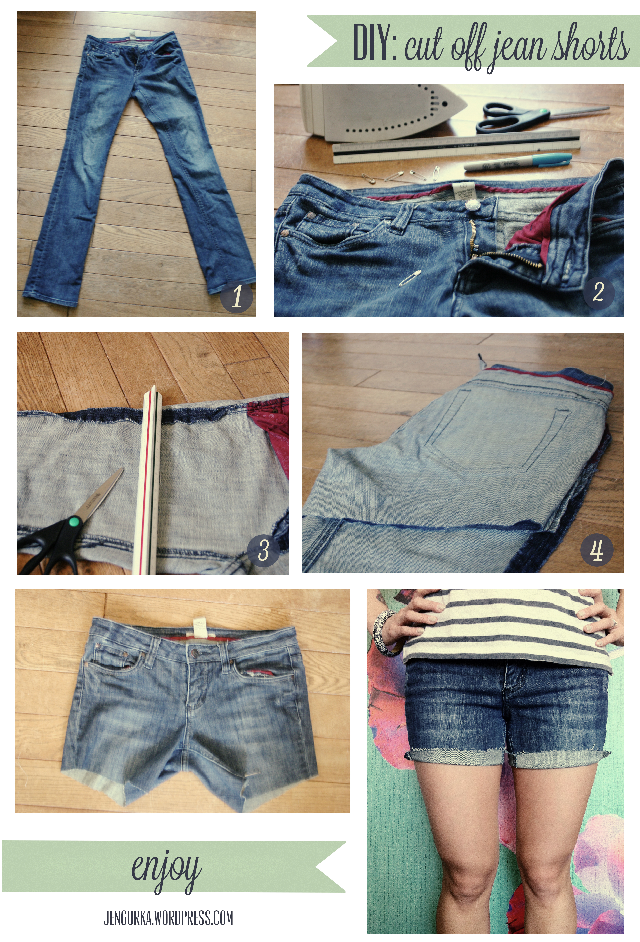 DIY Jean Cutoff Shorts
